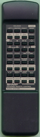 SHARP RRMCG0002AWSA RRMCG0002AWSA Genuine  OEM original Remote
