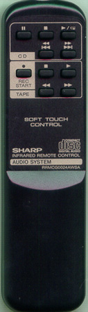 SHARP RRMCG0024AWSA RRMCG0024AWSA Genuine OEM original Remote