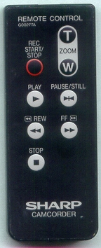 SHARP RRMCG0027TASA G0027TA Refurbished Genuine OEM Original Remote