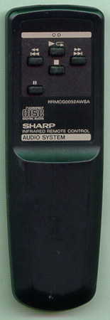 SHARP RRMCG0052AWSA RRMCG0052AWSA Genuine OEM original Remote
