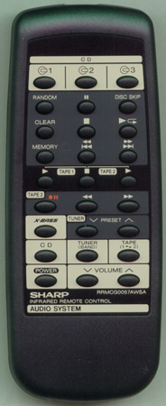 SHARP RRMCG0057AWSA RRMCG0057AWSA Genuine OEM original Remote
