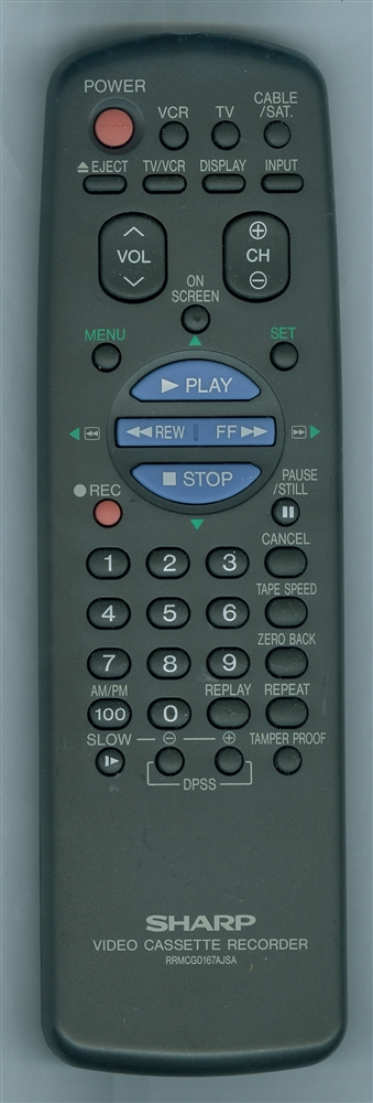 SHARP RRMCG0167AJSA RRMCG0167AJSA Refurbished Genuine OEM Remote