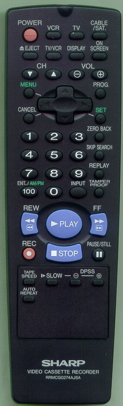 SHARP RRMCG0274AJSA RRMCG0274AJSA Refurbished Genuine OEM Remote