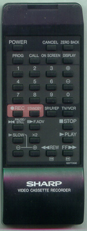 SHARP RRMCG0773GESA G0773GE Genuine OEM original Remote