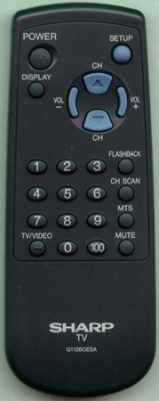 SHARP RRMCG1126CESA G1126CESA Genuine  OEM original Remote
