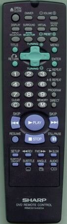 SHARP RRMCG1144GESA RRMCG1144GESA Genuine  OEM original Remote
