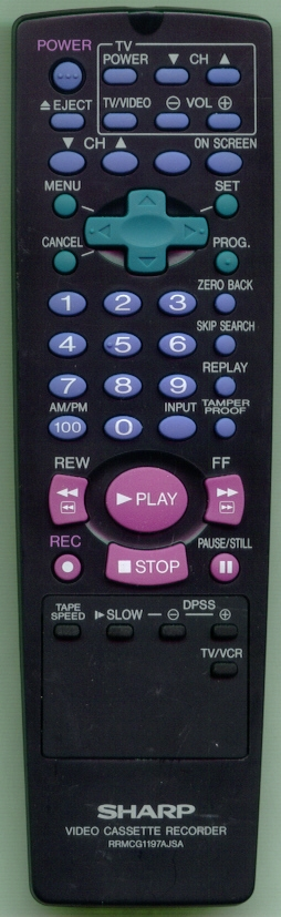 SHARP RRMCG1197AJSA RRMCG1197AJSA Refurbished Genuine OEM Remote