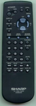 SHARP RRMCG1236CESA G1236CESA Genuine OEM original Remote