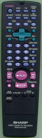 SHARP RRMCG1237AJSB RRMCG1237AJSB Genuine  OEM original Remote