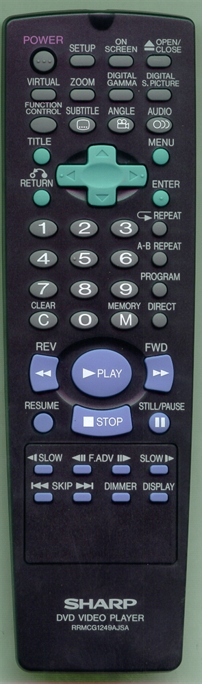 SHARP RRMCG1249AJSA RRMCG1249AJSA Refurbished Genuine OEM Remote
