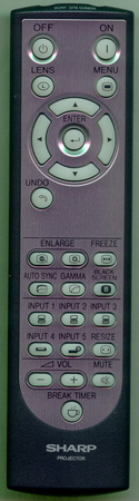 SHARP RRMCGA048WJSA RRMCGA048WJSA Genuine OEM original Remote