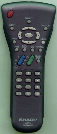SHARP RRMCGA174WJSB GA174WJSB Genuine  OEM original Remote