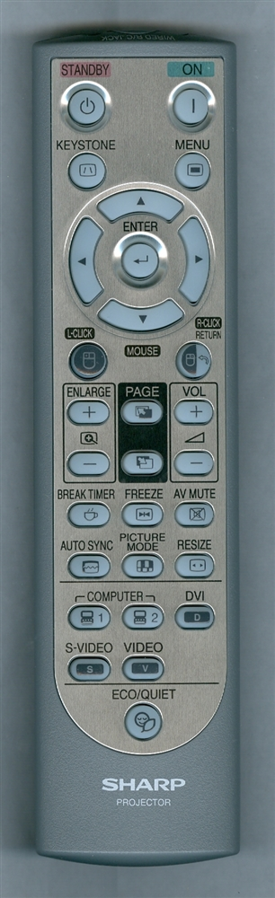 SHARP RRMCGA502WJSA RRMCGA502WJSA Refurbished Genuine OEM Remote