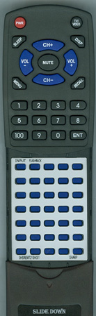 SHARP 9HSREMT21SH001 GA336SA Custom Built Redi Remote