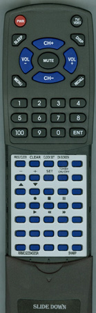 SHARP RRMCG0334GESA G0334GE Custom Built Redi Remote
