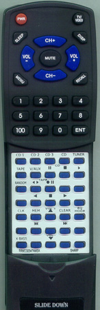 SHARP RRMCG0347AWSA RRMCG0347AWSA Custom Built Redi Remote