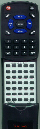 SHARP RRMCG0461CESA RRMCG0461CESA Custom Built Redi Remote