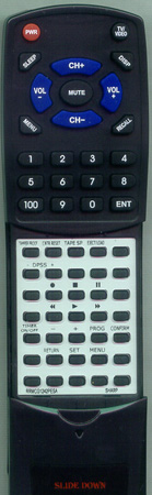 SHARP RRMCG1046PESA Custom Built Redi Remote