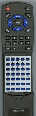 SHARP RRMCGA049AWSA RRMCGA049AWSA Custom Built Redi Remote