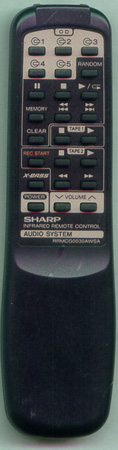 SHARP RRMCG0030AWSA Genuine OEM original Remote