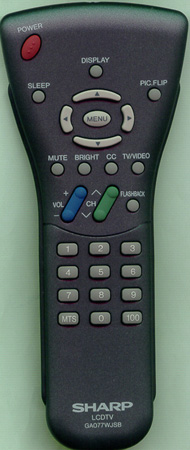 SHARP RRMCGA077WJSB GA077WJSB Genuine  OEM original Remote
