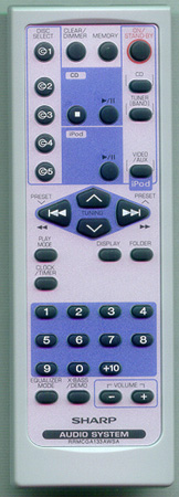 SHARP RRMCGA133AWSA Genuine  OEM original Remote