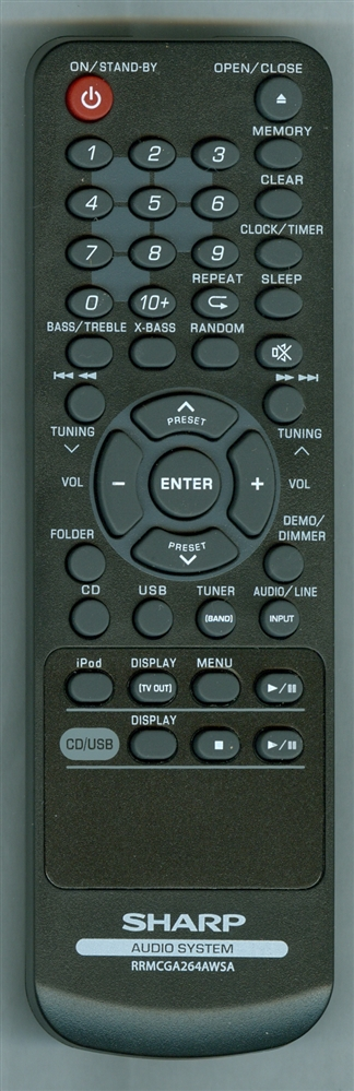 SHARP RRMCGA264AWSA Genuine OEM original Remote