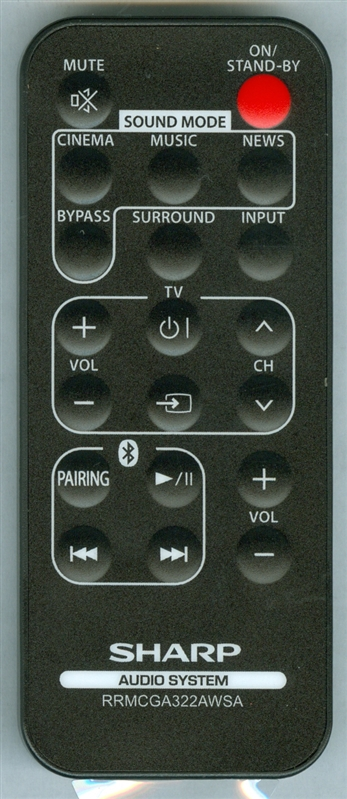 SHARP RRMCGA322AW02 RRMCGA322AWSA Genuine  OEM original Remote