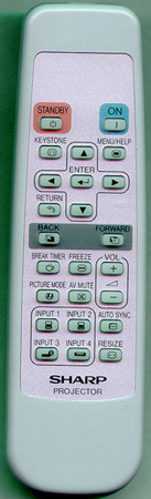 SHARP RRMCGA398WJSA Genuine OEM original Remote