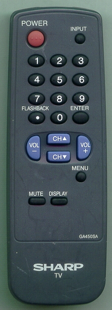 SHARP RRMCGA450WJSA GA450SA Refurbished Genuine OEM Original Remote