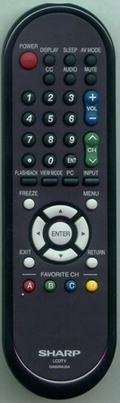 SHARP RRMCGA603WJSA GA603WJSA Genuine  OEM original Remote