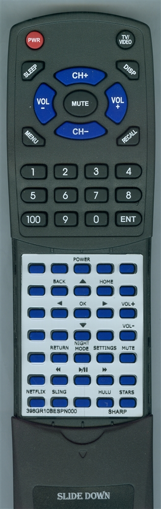 SHARP 398GR10BESPN000 Custom Built Redi Remote