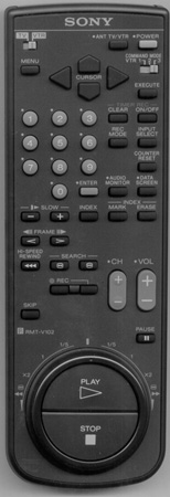 SONY 1-465-770-21 RMTV102 Genuine  OEM original Remote