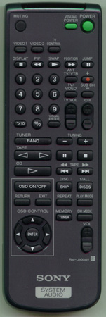 SONY 1-473-698-11 RMU100AV Genuine  OEM original Remote