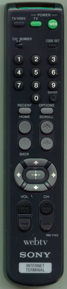 SONY 1-473-908-11 RMY142 Refurbished Genuine OEM Original Remote