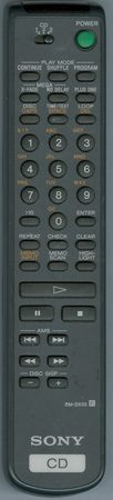 SONY 1-475-208-11 RMDX55 Genuine  OEM original Remote