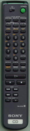 SONY 1-475-208-21 RMDX55 Genuine  OEM original Remote