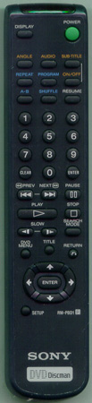 SONY 1-475-561-21 RMPBD1 Genuine OEM original Remote