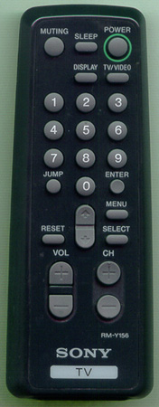 SONY 1-475-633-11 RMY156 BLACK Genuine  OEM original Remote
