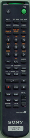 SONY 1-476-057-11 RMD47M Genuine OEM original Remote