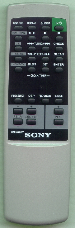 SONY 1-476-187-11 RMSG10AV Refurbished Genuine OEM Original Remote
