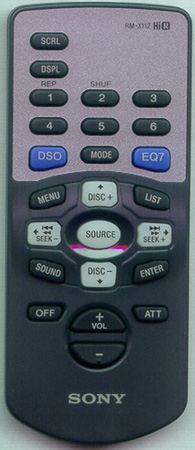 SONY 1-476-546-41 RM-X112 Genuine OEM original Remote