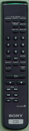 SONY 1-476-598-11 RMSX700 Genuine  OEM original Remote