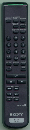 SONY 1-476-598-12 RMSX700 Genuine  OEM original Remote