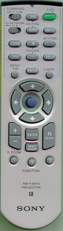 SONY 1-476-743-22 RMPJM16 Genuine  OEM original Remote