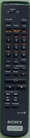 SONY 1-477-038-11 RMR51 Genuine  OEM original Remote