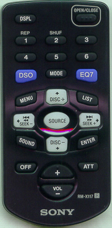 SONY 1-477-110-13 RMX117 Genuine  OEM original Remote