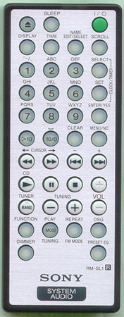 SONY 1-477-120-11 RMSL1 Genuine OEM original Remote