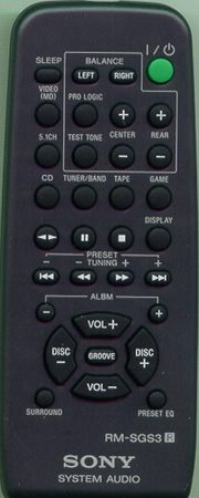 SONY 1-477-224-11 RMSGS3 Genuine  OEM original Remote