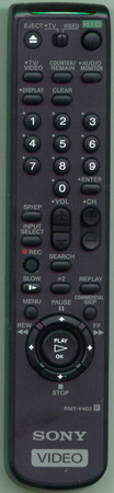 SONY 1-477-280-11 RMTV402 Genuine  OEM original Remote